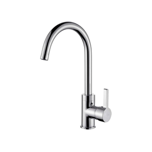Contemporary Design Water Saving Single Lever Long Spout Kitchen Sink Faucet