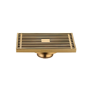 Recessed Design Golden Metal Shower Drain Parts