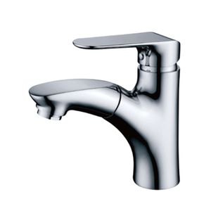 Fashion Chrome Single Handle Brass Lavatory Faucet