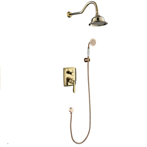 Concealed Matte Black Shower Faucet Set with Tub Spout