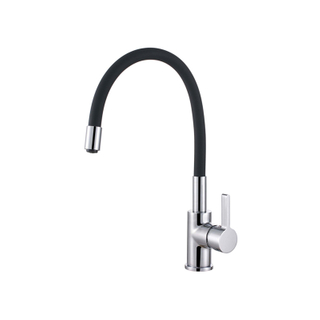 Contemporary Design Single Handle Chrome Deck Mounted Fold Kitchen Faucet