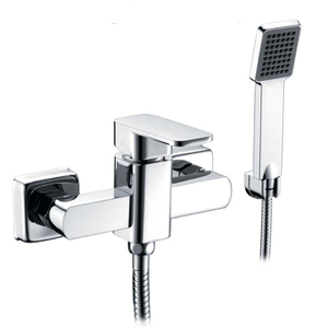 Single Handle And Durable Polished Chrome Brass European Shower Faucet Mixer
