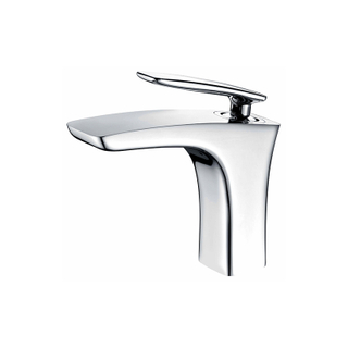 Modern Polished Chrome 1 Handle Bathroom Faucets For Sink