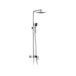 Exposed Chrome Brass Mixer Shower Taps
