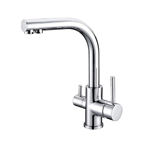 Dual Handle Kitchen Faucet Mixer Universal Flexible Cold Hot Kitchen Tap Single Hole Water Mixer Tap