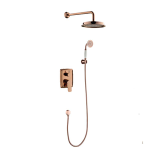 Italy Design Hotel Wall Mounted Brass Shower Head Concealed Shower Set