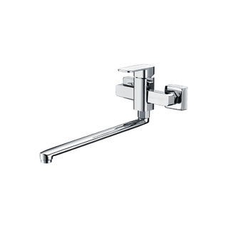 Modern Bathroom Brass Mixer Shower In Chrome Finish