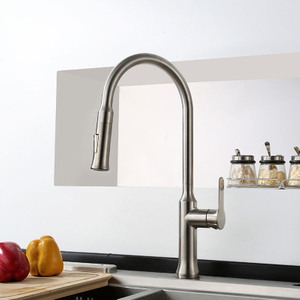 Single Handle Brass Pull Out Spray Kitchen Faucet With Flexible Hose