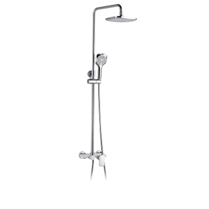 Classical 1 Handle Bathroom Shower Column Set With Rain Shower Head and Hand Shower