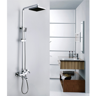 Rain Shower System with Handshower and Adjustable Slide Bar