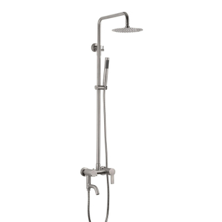 Complete Rainfall Stainless Steel Chromed Wall Mounted Bath Shower Set