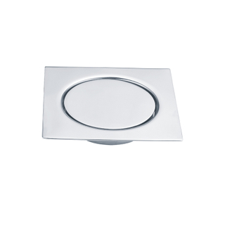 Chrome Plated Bathroom Floor Drain Cover Installation