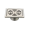 Insert Types Flat Brass Adjustable Shower Drain Assembly