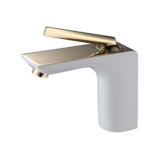 Single Handle Copper Water Faucet In Chrome For Bathroom
