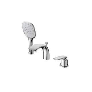 3 Hole Chrome And Brass Bathroom Bathtub Faucets