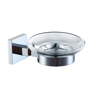 HANWEI Wall Mount Glass Soap Dish Holder For Shower