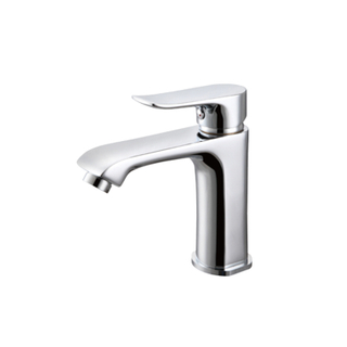 Dual Handle Thermostatic Wash Basin Mixer Tap In White
