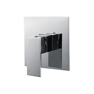 Unique Design White And Chrome Shower Tap Mixer