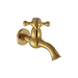 PVD Gold Wall Mount Single Handle Brass Laundry Faucet Parts