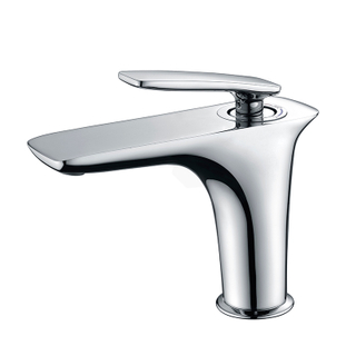 Polished Chrome Brass Widespread Bathroom Faucets