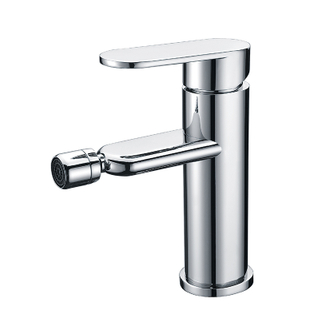 Modern Deck Mount Single Handle Bathroom Faucet In Chrome