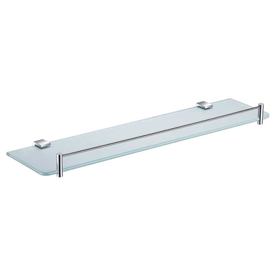 Chrome Single Glass Shelf For Bathrooms