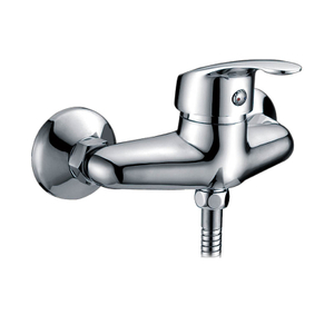 Chrome Polished Wall Mounted Bathroom Shower Faucets