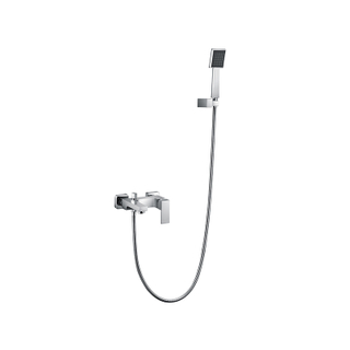 Single Handle Brass Bath Shower Tub Faucet In Chrome