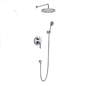 Wall Mounted Single-Function Concealed Shower Set With Rain Shower Head