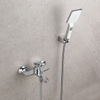 Brass Bathtub Faucet | Wall Mounted Bathtub Faucet Set | Chrome Bathtub Faucet with Handheld Shower Head