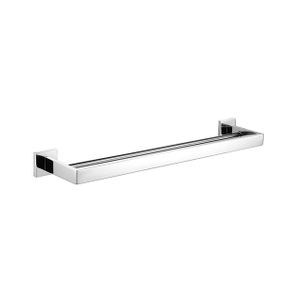 Towel Bar | Bathroom Double Towel Bar | Chrome Square Towel Bar Holder